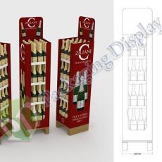 D3D 107 - Box Pallet per promozione bottiglie di vino.